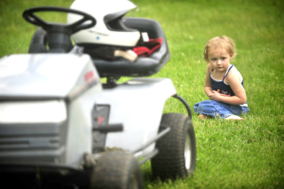 Lawnmowers and Kids don't mix