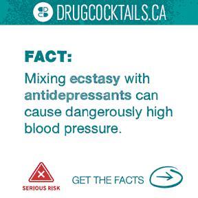 Drug Cocktail - Ecstasy and antidepressant